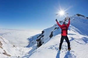Att lära sig ett språk är som att klättra på ett berg - ha alltid målet i åtanke.
